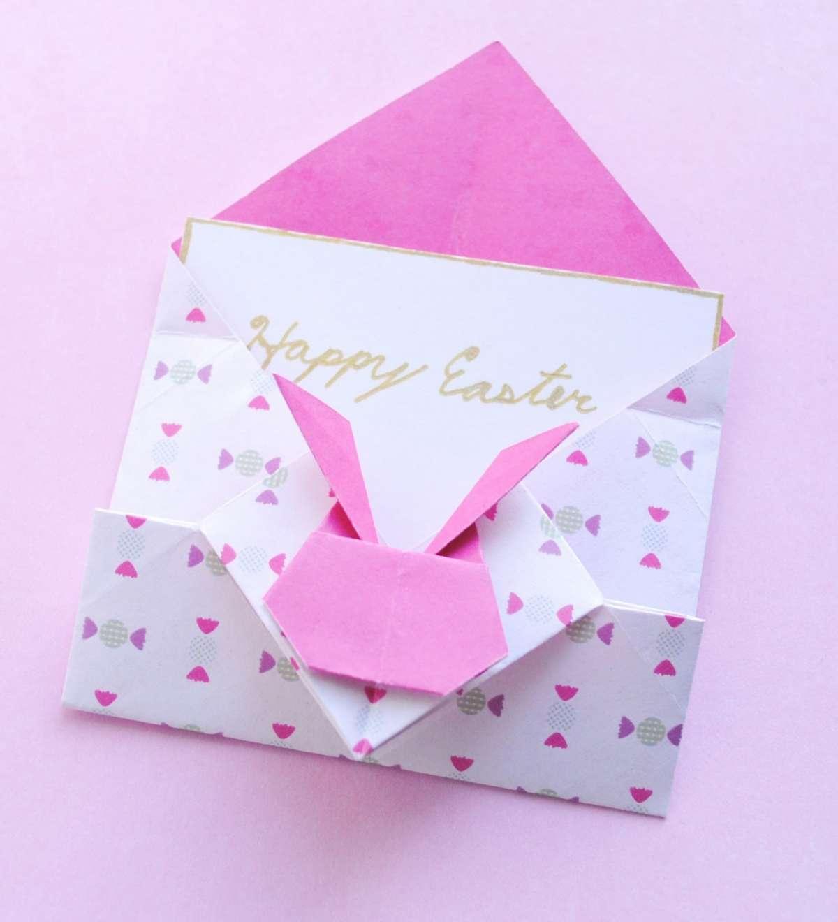 Biglietto pasquale con origami