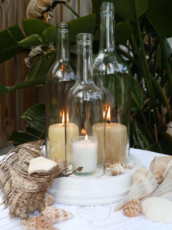Bottiglie con candele