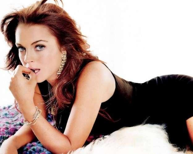Capelli castano rossi di Lindsay Lohan