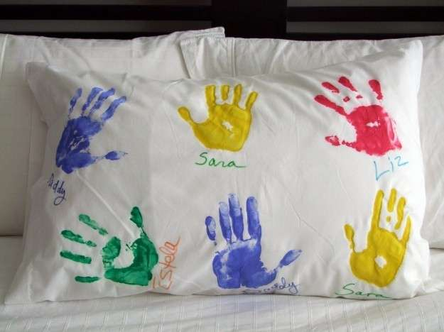 Cuscino dipinto da fare a mano