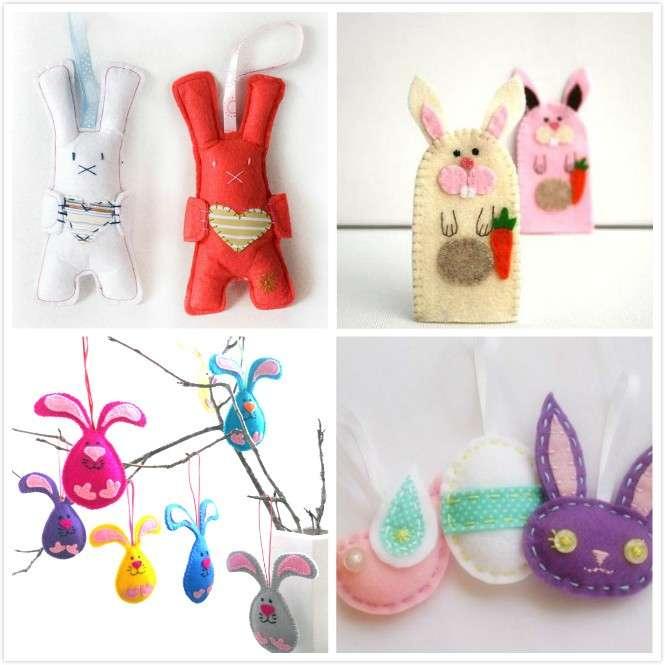 Decorazioni con i coniglietti pasquali