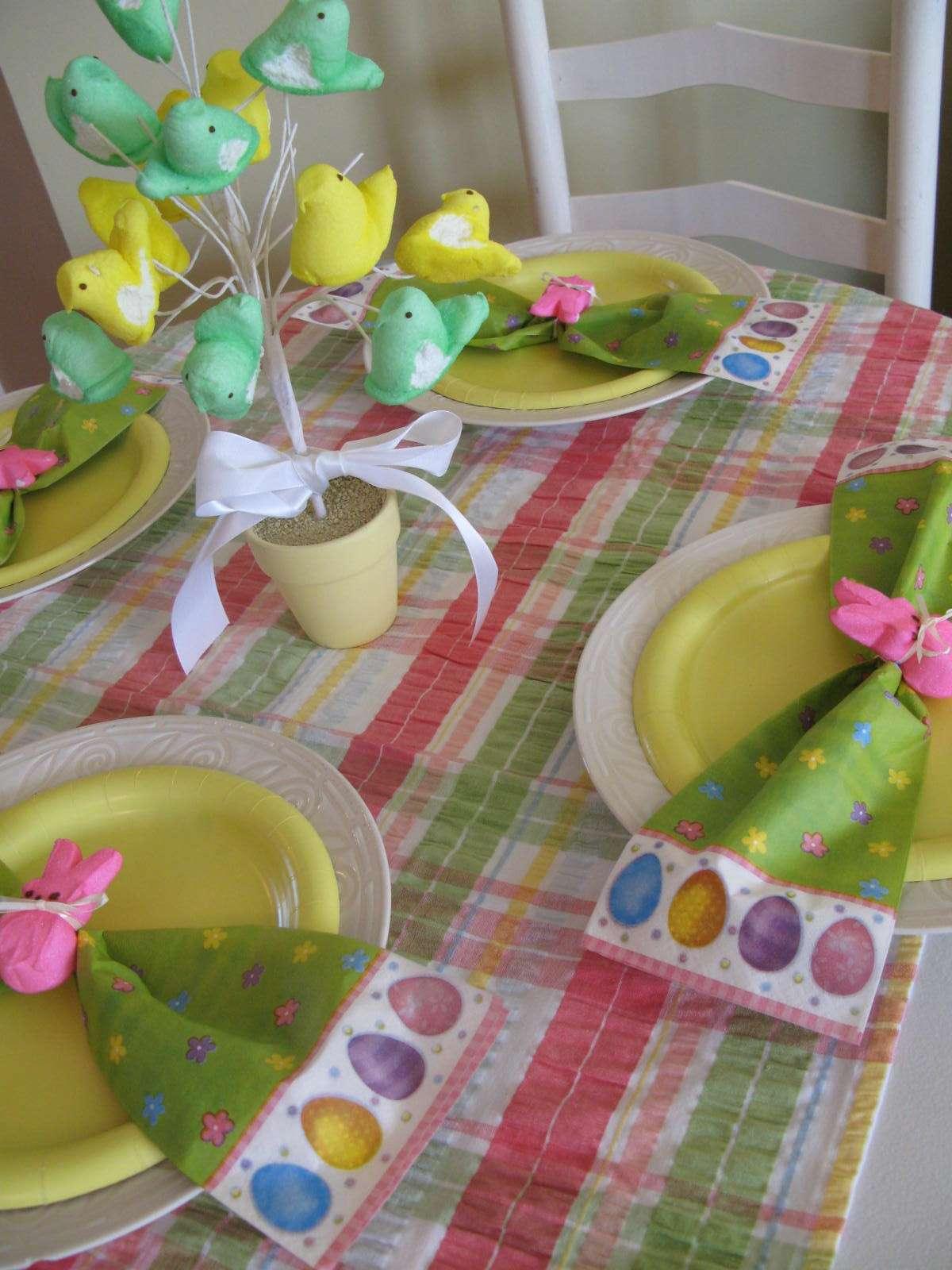 Idee pasquali per la tavola dei bambini
