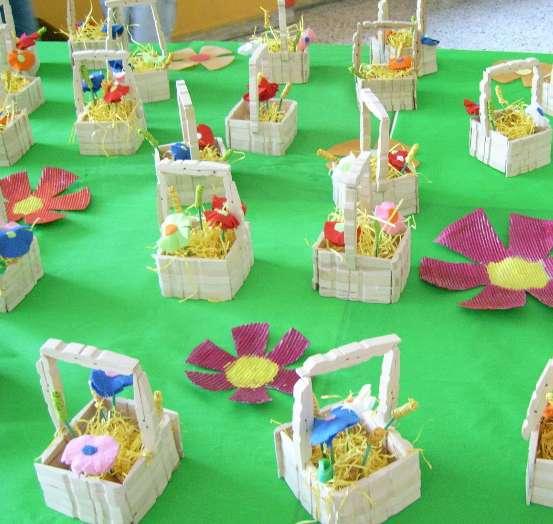 Lavoretti per bambini della scuola primaria: i cestini pasquali
