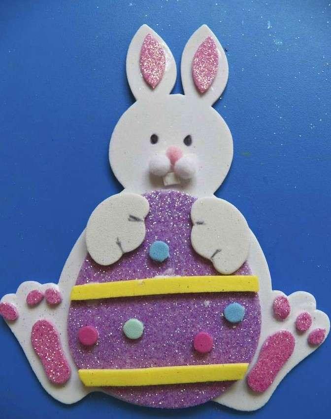 Lavoretti per bambini della scuola primaria: il coniglio pasquale