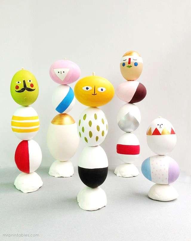 Sculture con le uova di Pasqua