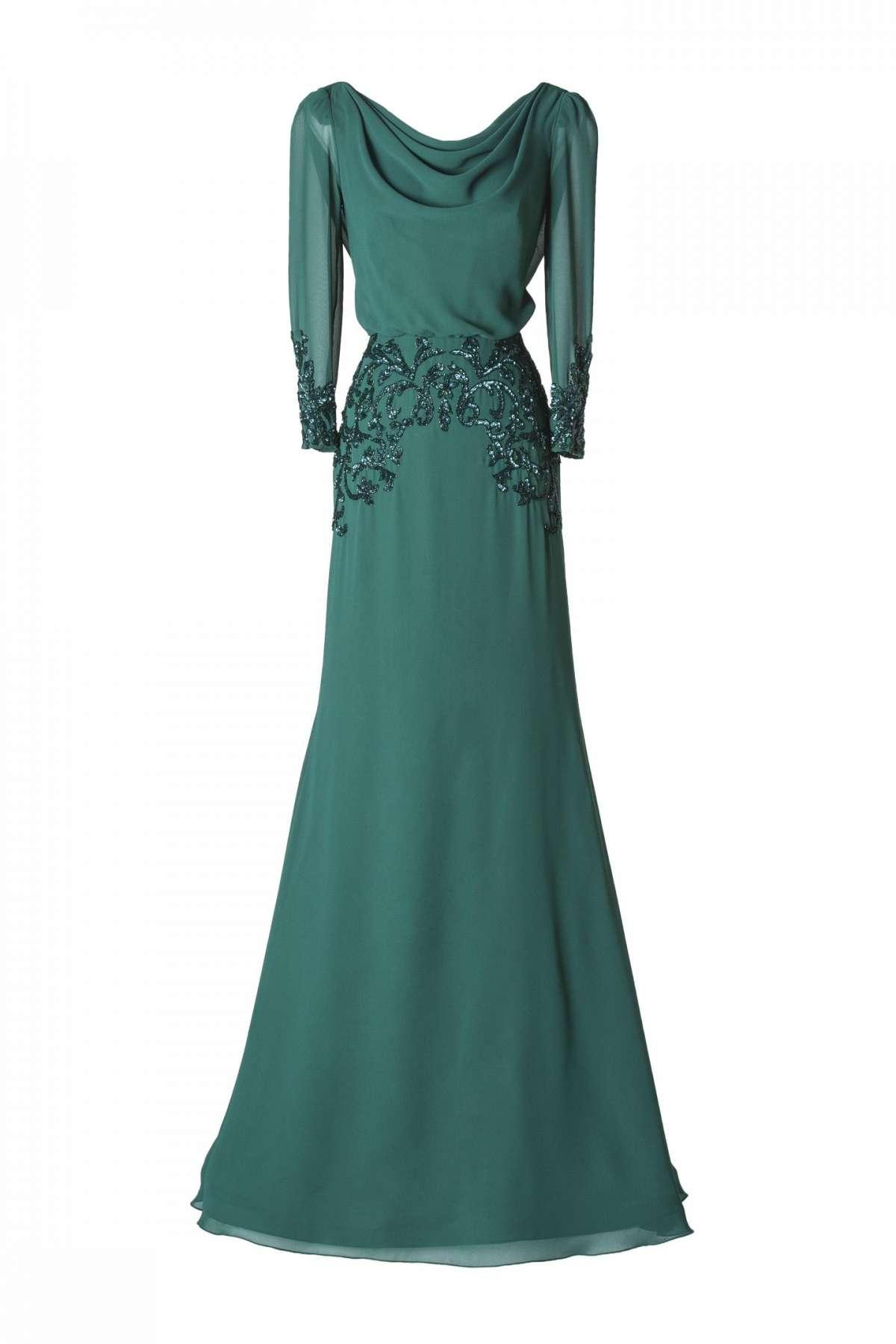 Vestito da cerimonia verde chiaro