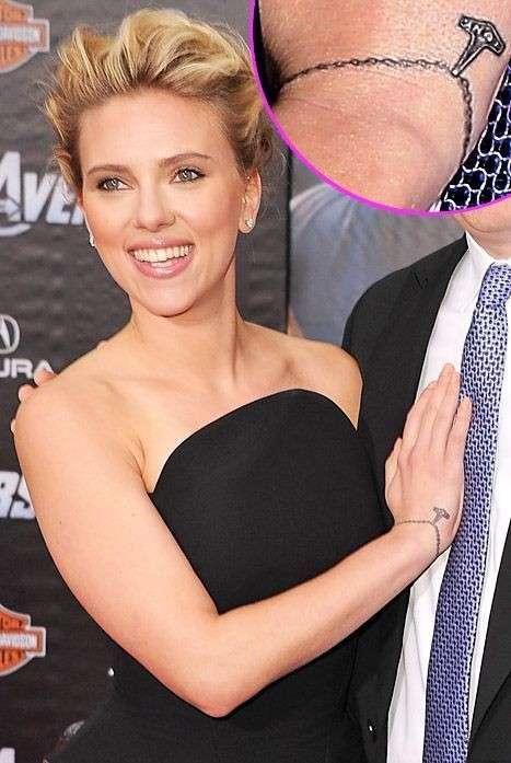 Braccialetto tattoo di Scarlett Johansson