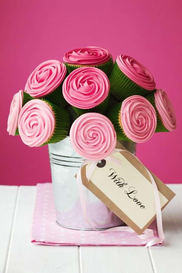 Centrotavola con cupcake
