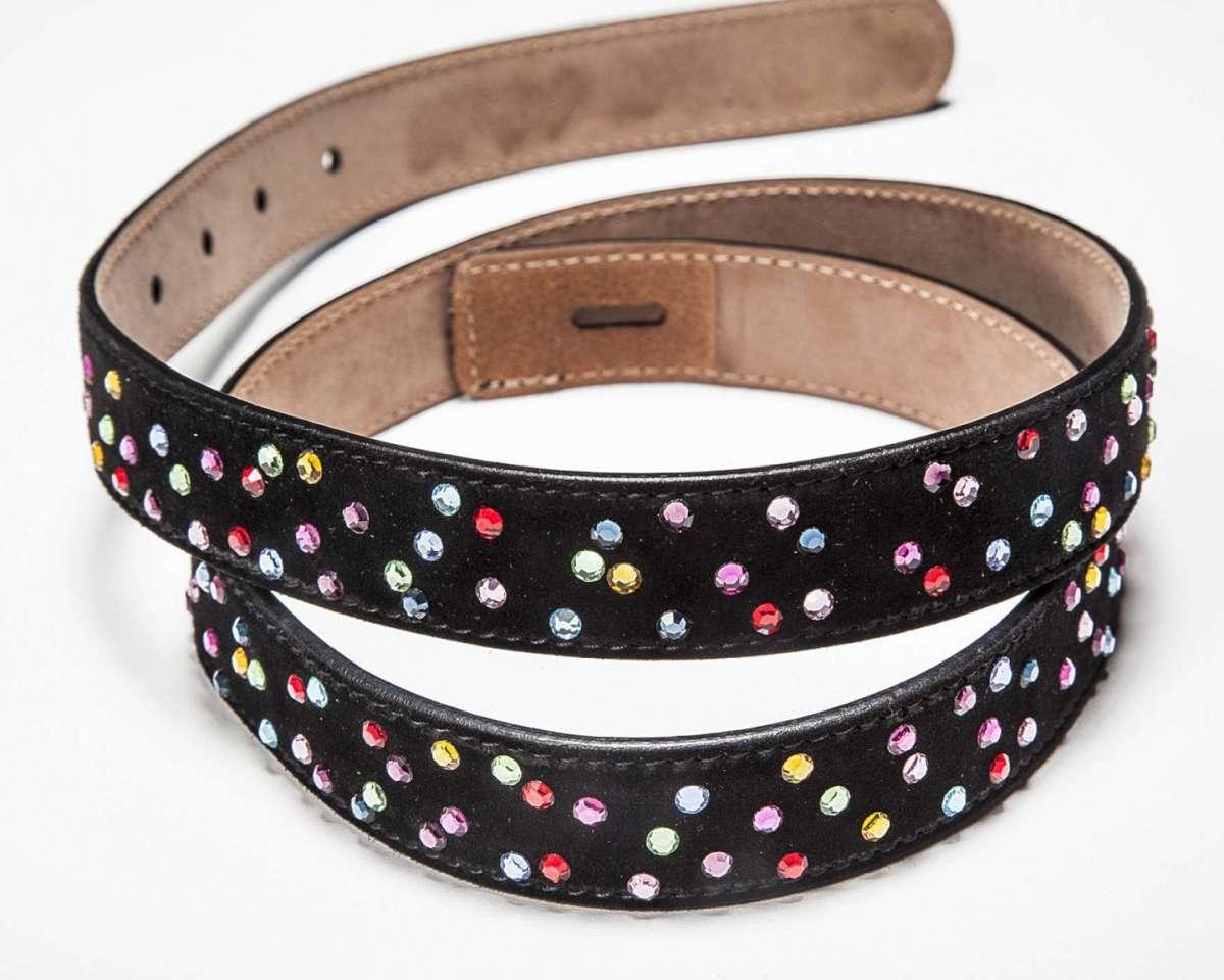 Cintura con strass colorati