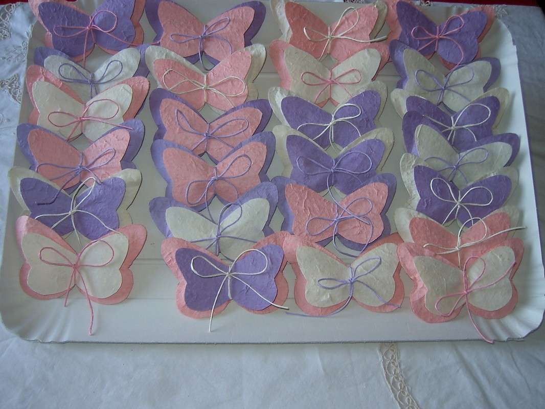 Farfalle bicolore di feltro