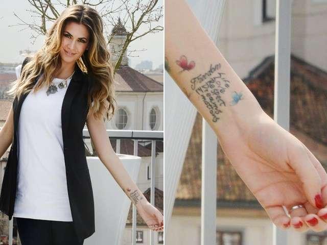 Tattoo di Melissa Satta