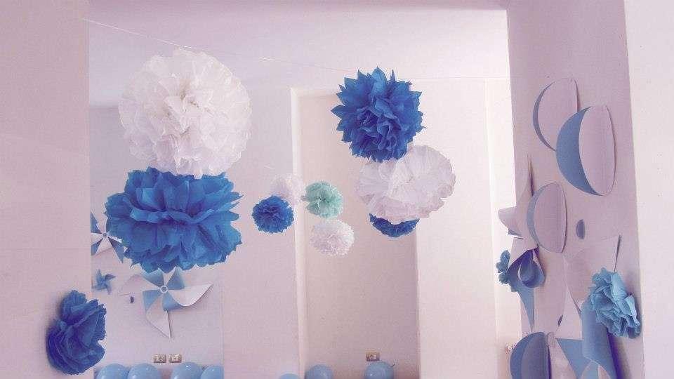 Addobbi azzurri, blu e bianchi