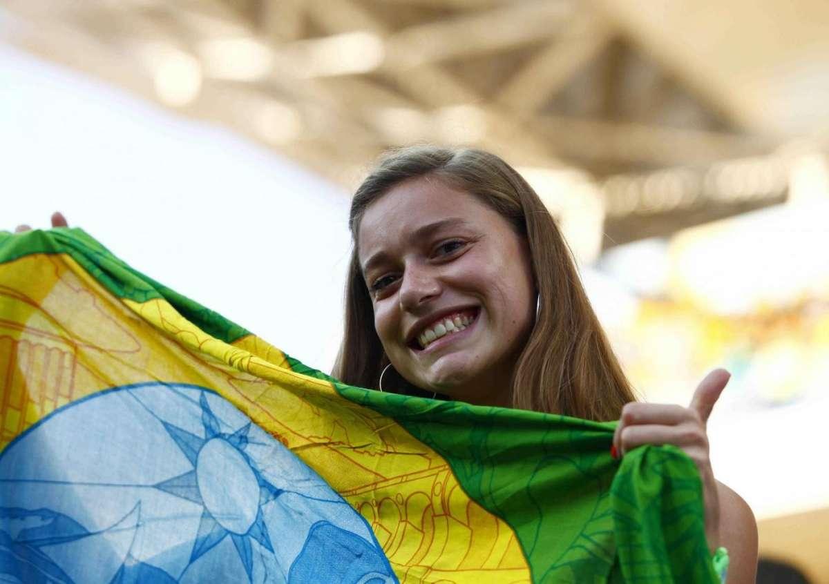 Il tifo durante Brasile contro Croazia