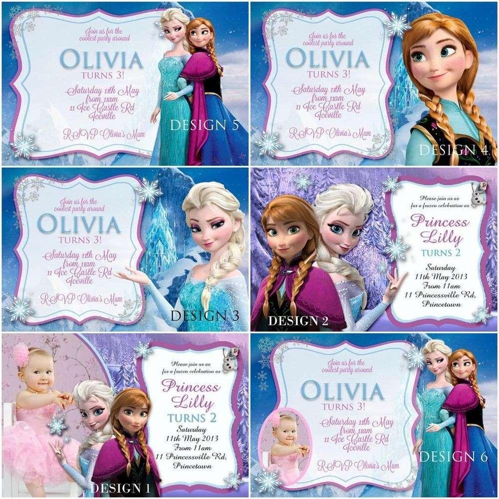 Inviti di compleanno in stile Frozen