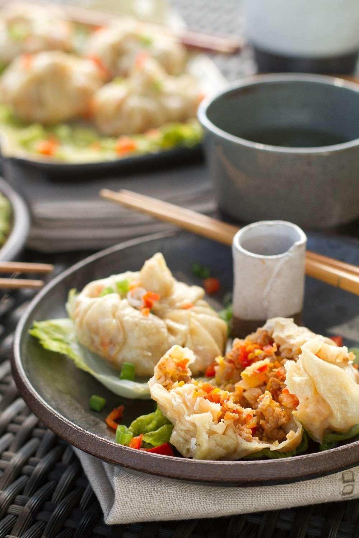 Ravioli cinesi con verdure