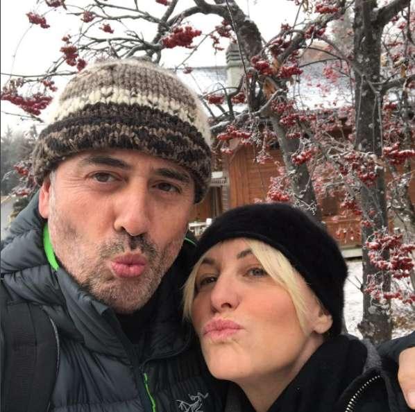 Antonella Clerici e Vittorio Garrone in vacanza in montagna