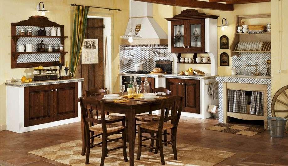 Cucina in muratura tradizionale