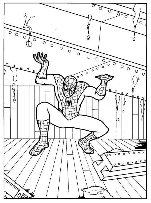 Disegno dell'uomo ragno