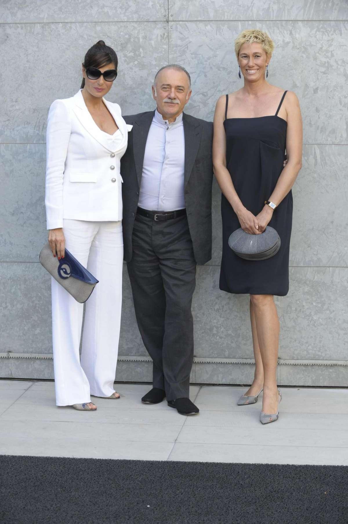 Giorgio Faletti, la moglie e Ilaria D'Amico