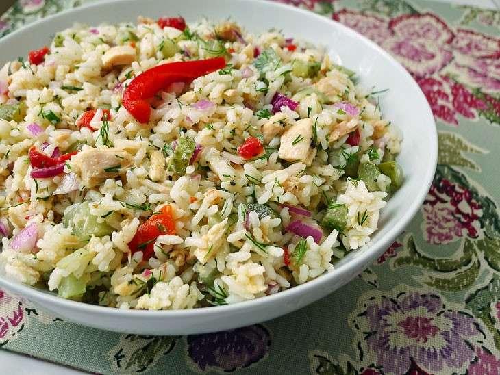 Insalata di riso con cipolle di Tropea