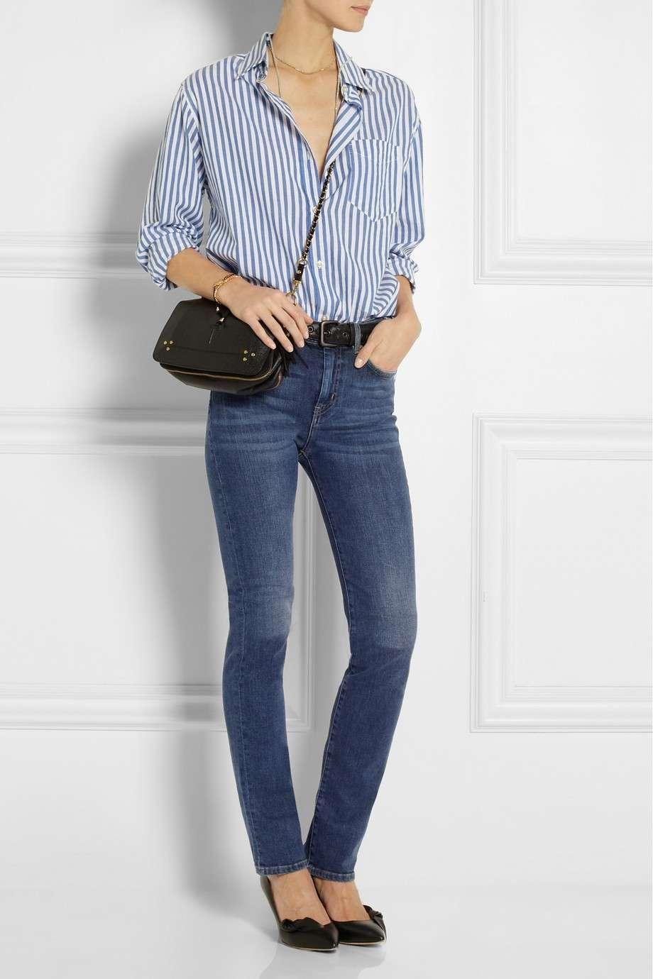 Pantaloni a vita alta e camicia