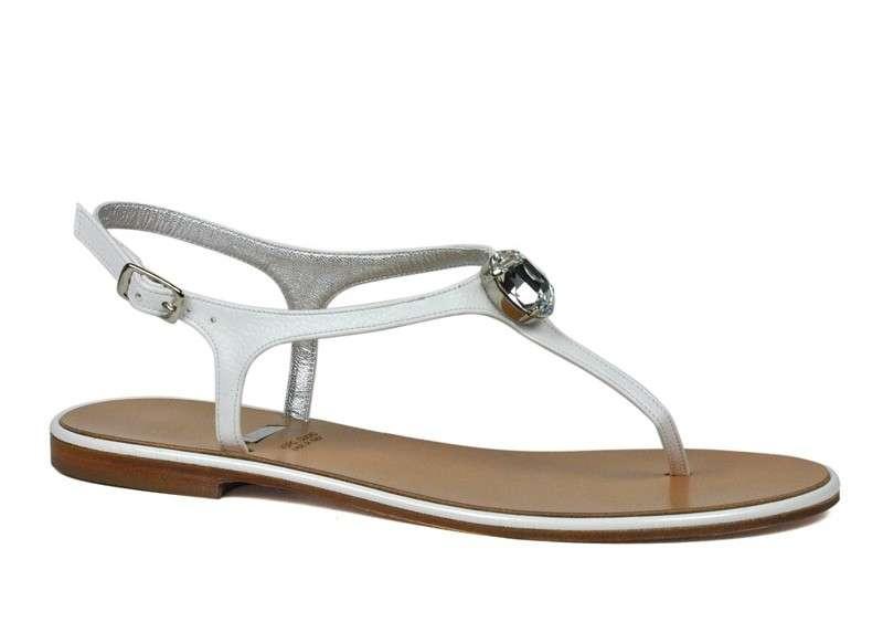 Sandali con inserto gioiello