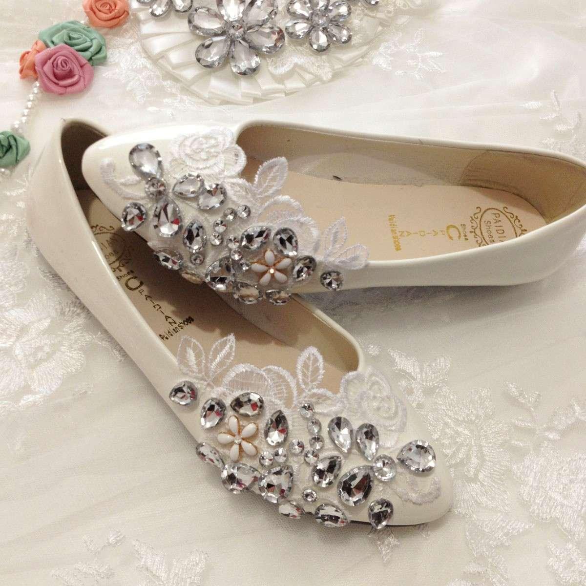 Scarpe basse chiuse per la sposa