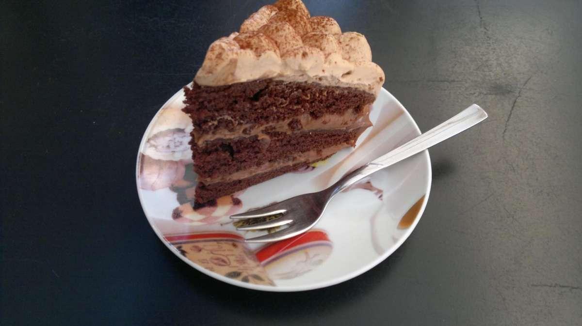 Torta tiramisù al doppio cioccolato
