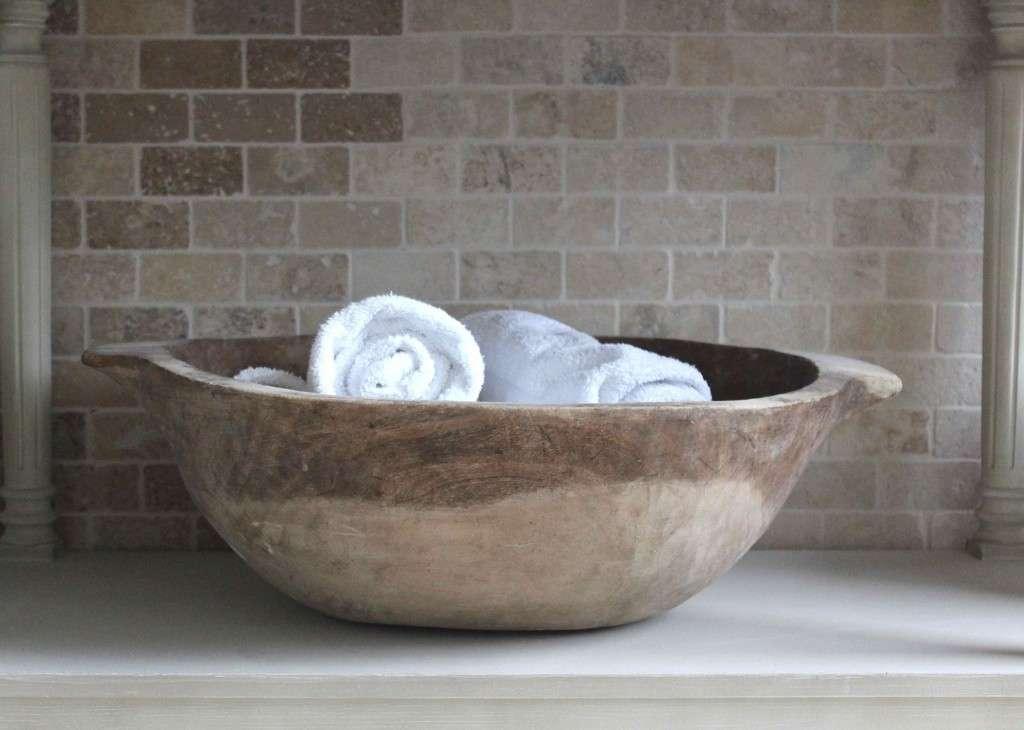 Un'idea per riporre gli asciugamani