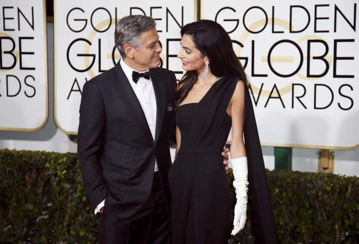 George Clooney e Amal Alamuddin innamorati ai Golden Globe Awards 2015
