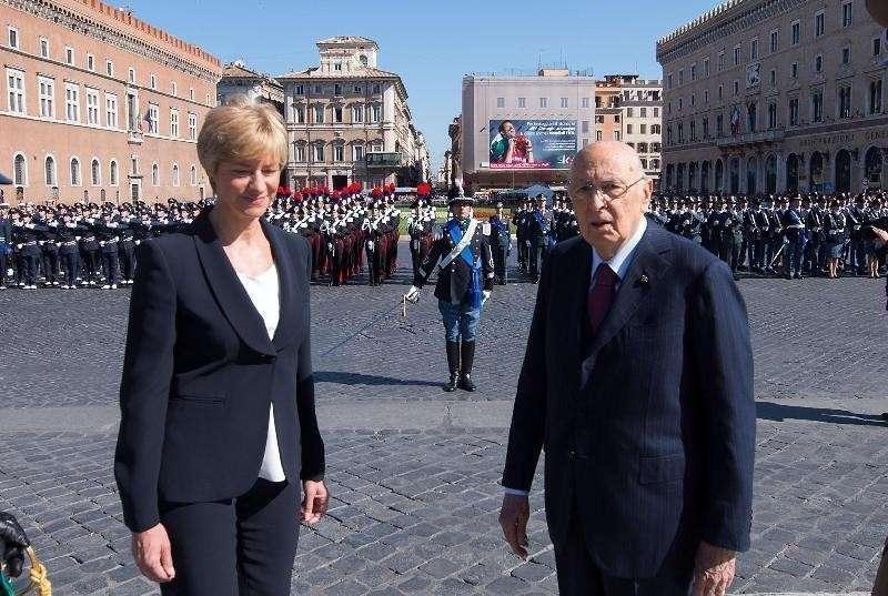 Il ministro con il presidente Napolitano
