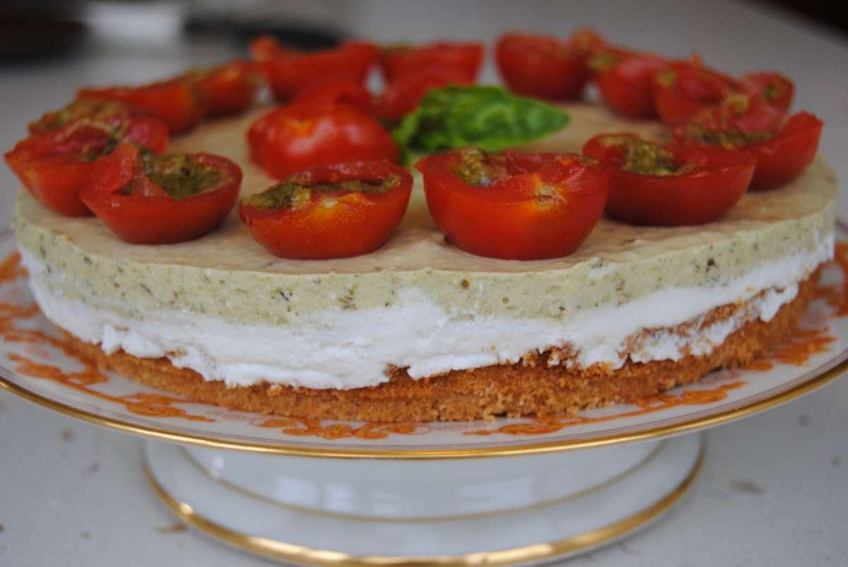 Cheesecake ai pomodorini