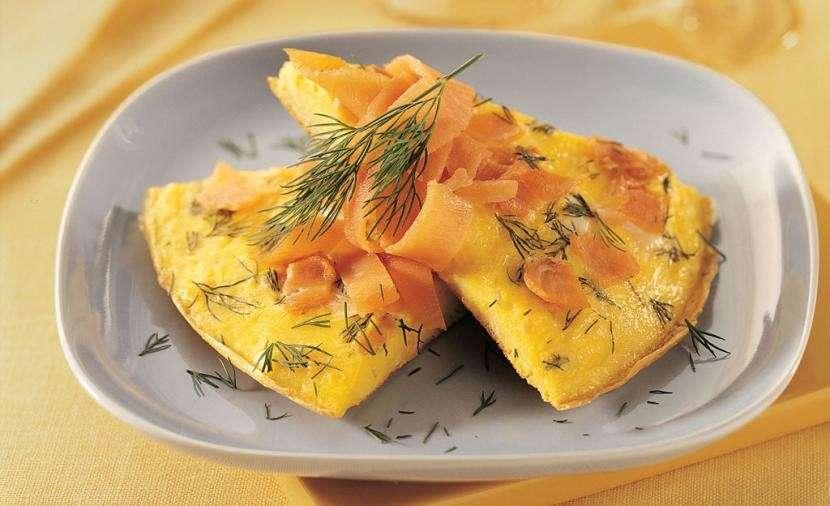 Frittata aromatica al salmone
