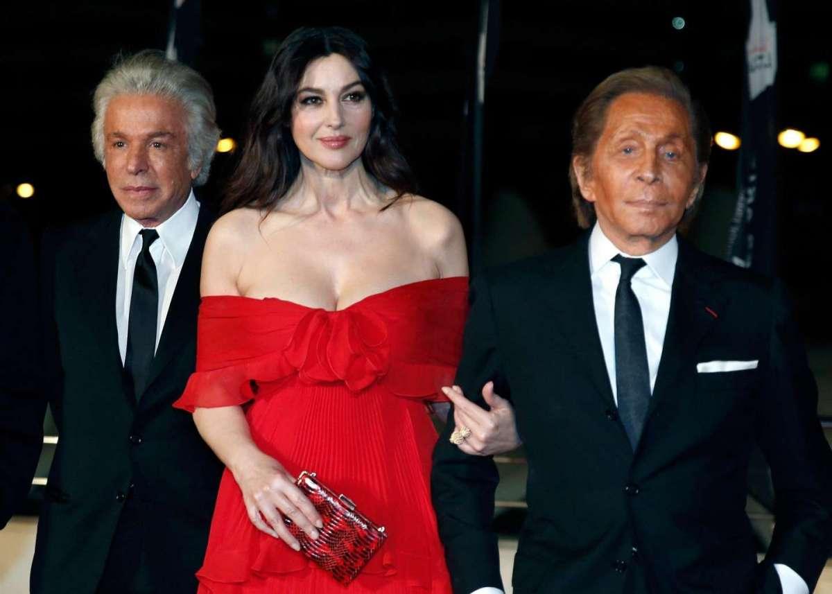 Monica Bellucci e lo stilista Valentino