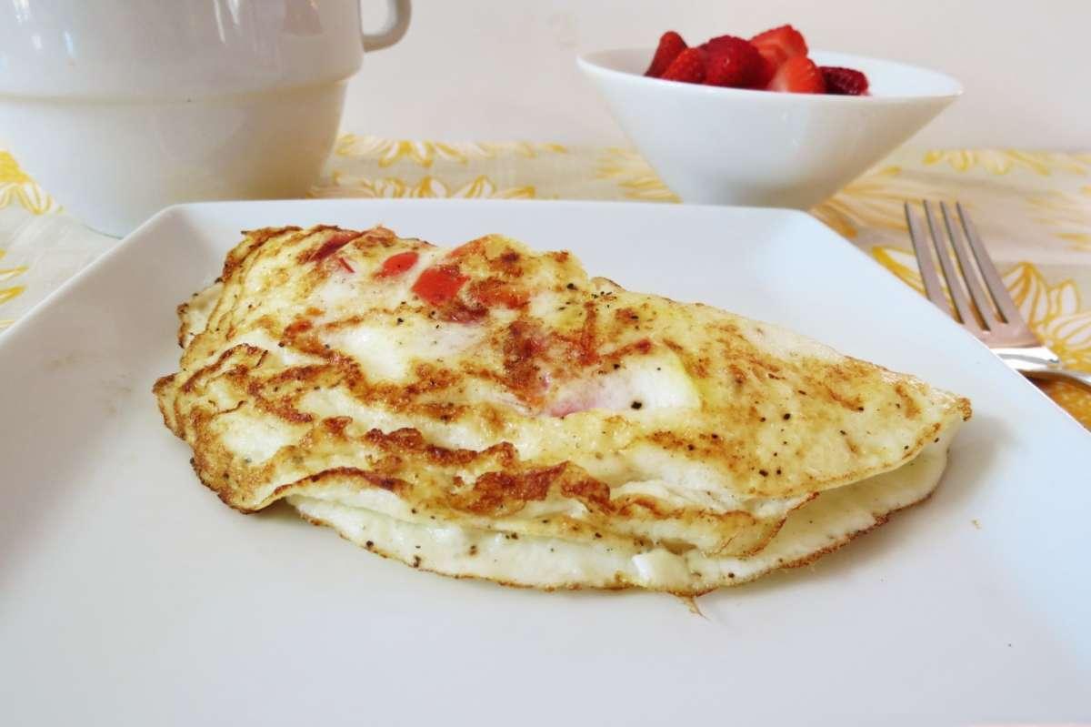 Omelette con la frutta