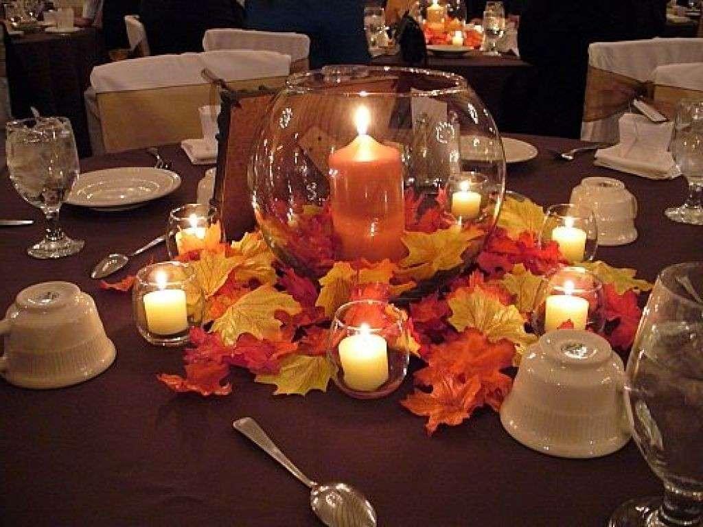 Candele romantiche per l'autunno