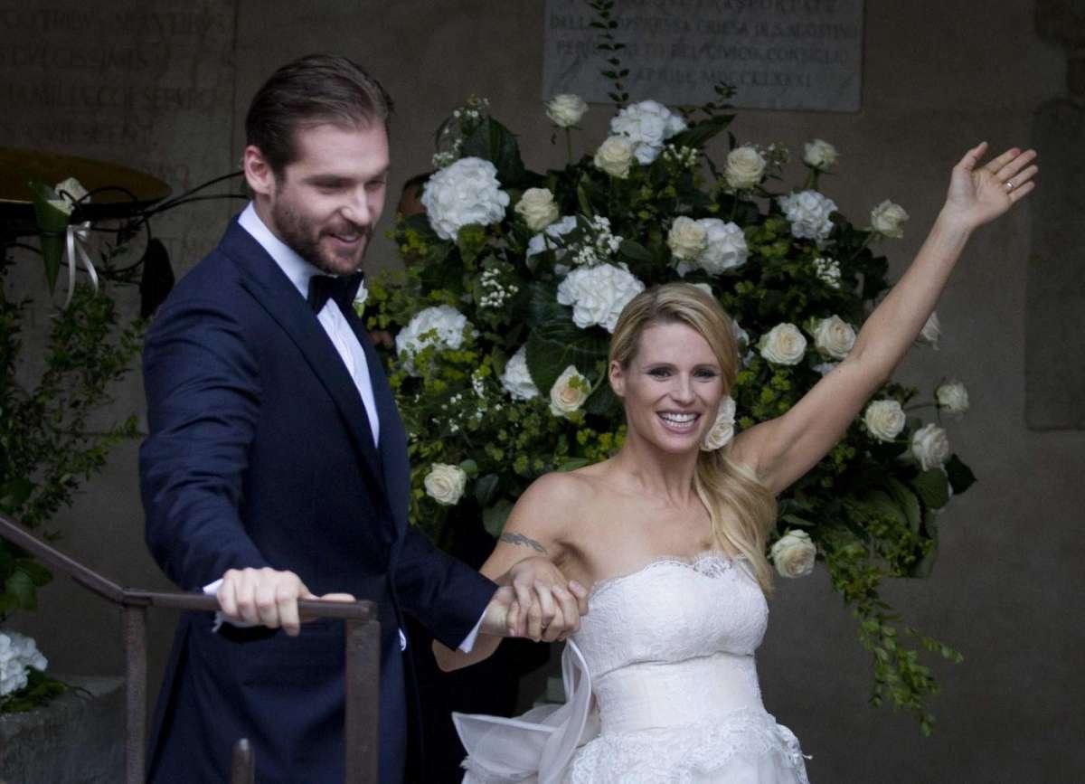 La gioia incontenibile dei neo sposi vip