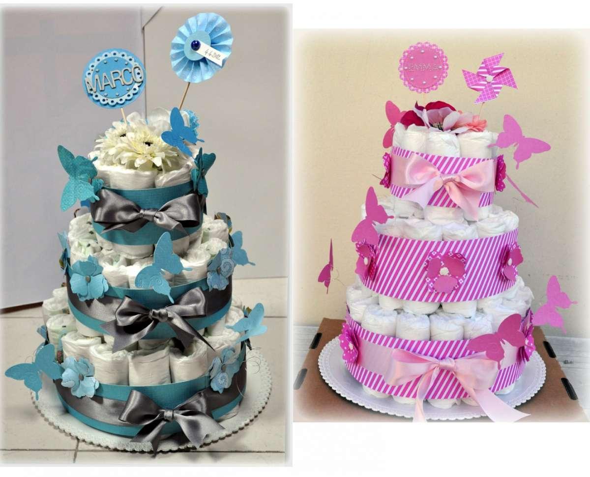 Torte rosa e azzurra