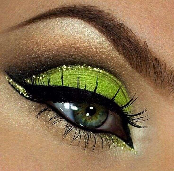 Trucco occhi arabo verde lime
