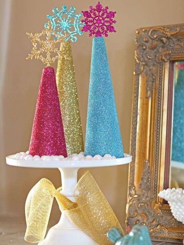 Alberi di Natale con i glitter
