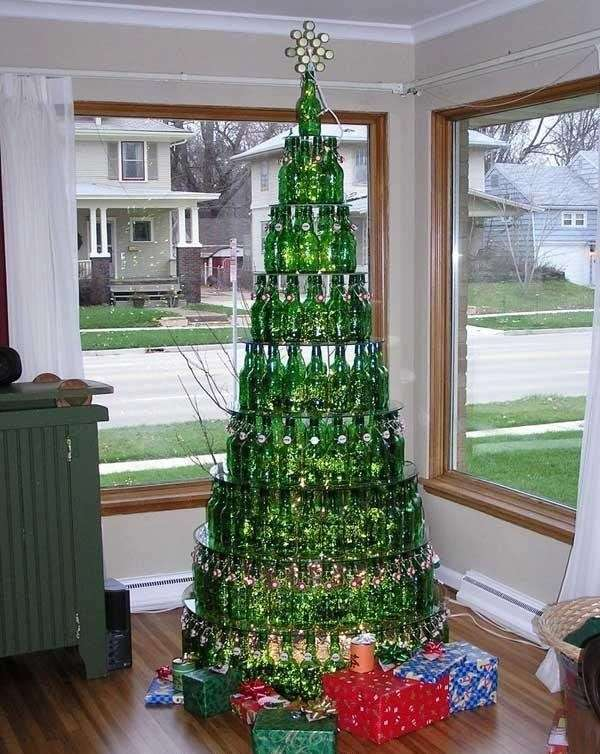 Albero di Natale con le birre