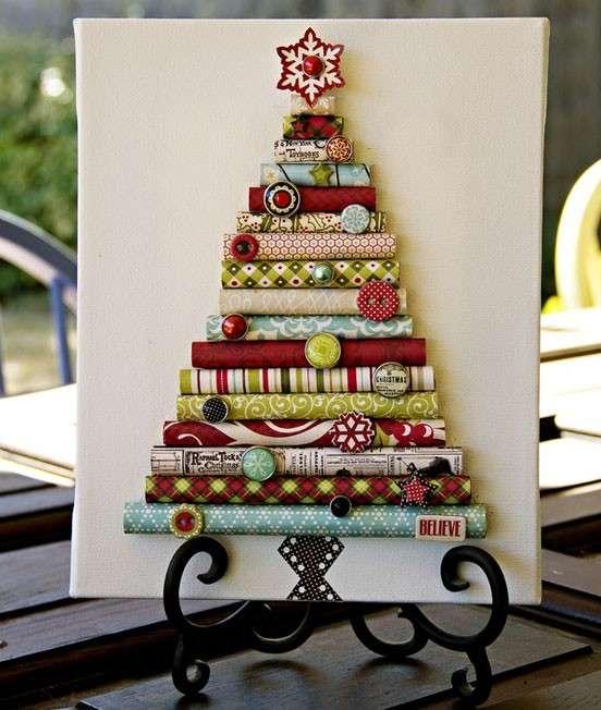 Albero di Natale di carta fai da te