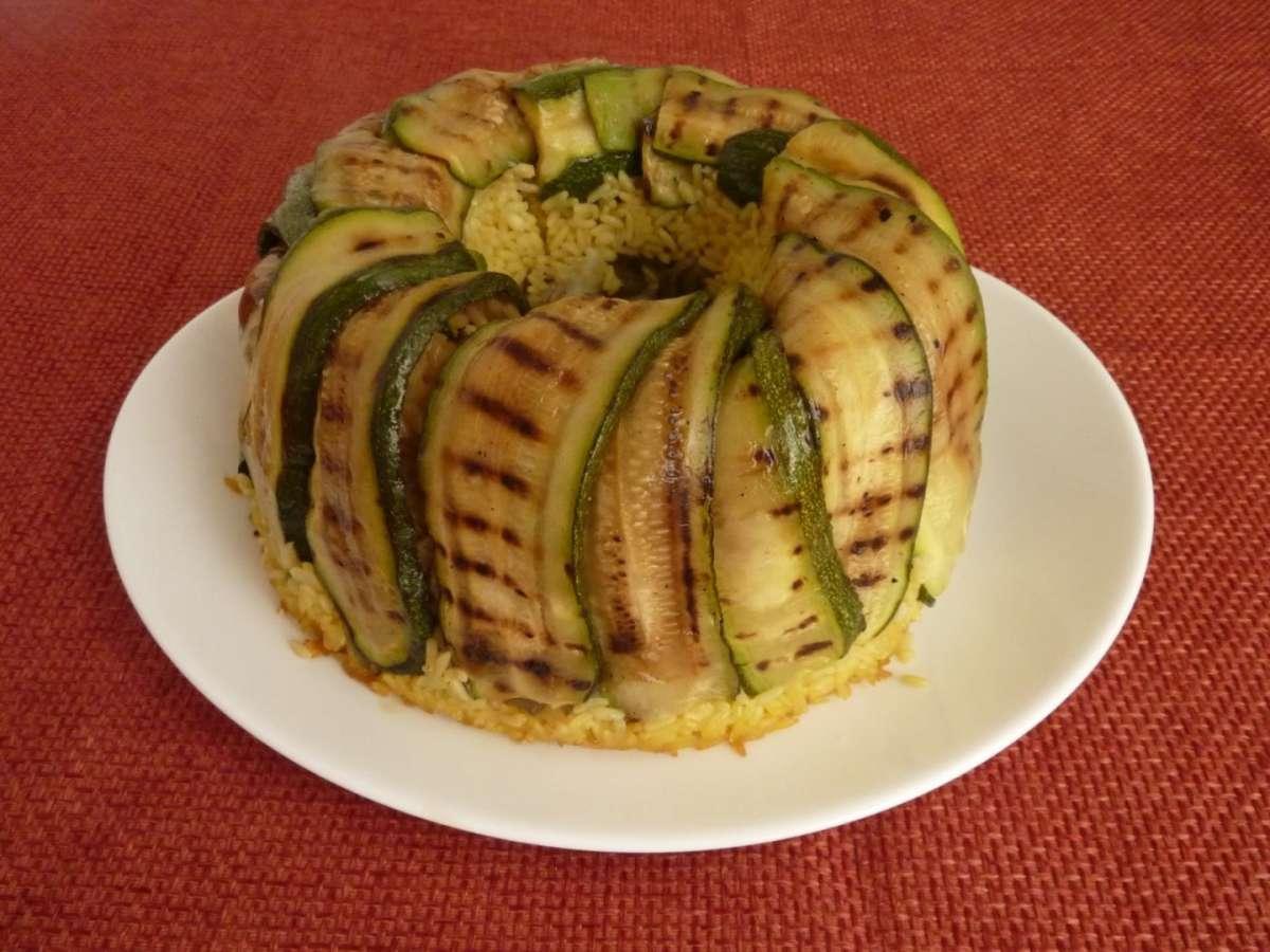 Ciambella di riso con zucchine