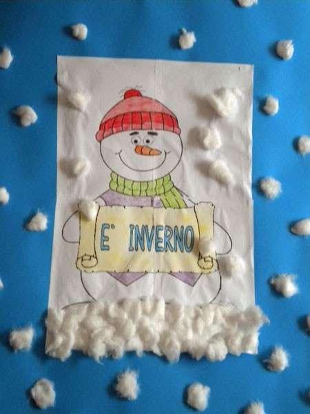 Disegno decorato sull'Inverno
