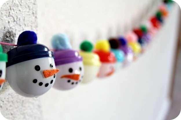 Festone di pupazzi di neve