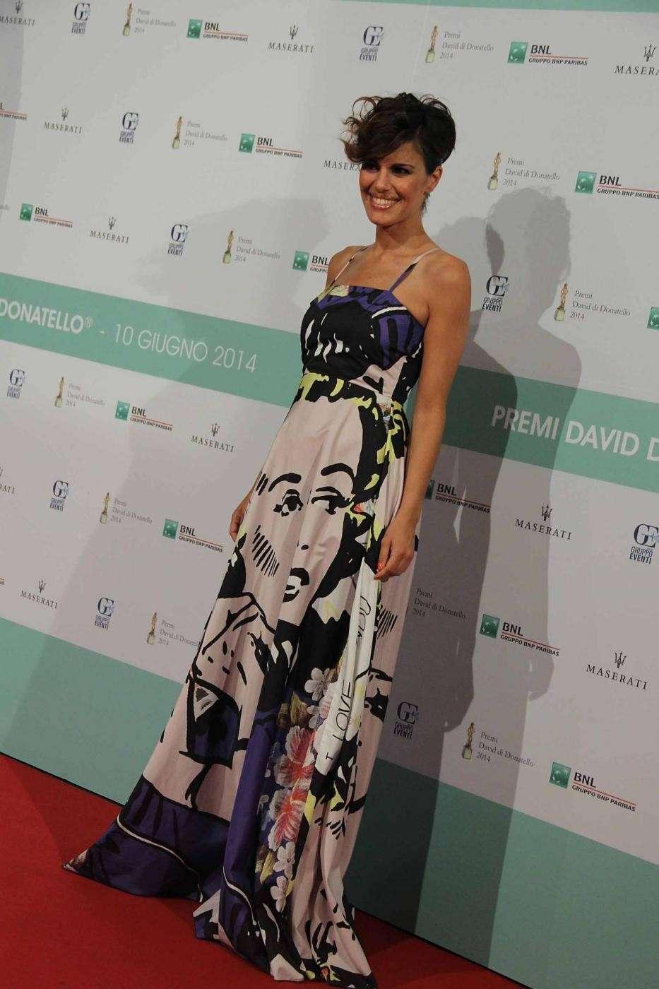 L'attrice pugliese ai David di Donatello 2014 a Roma