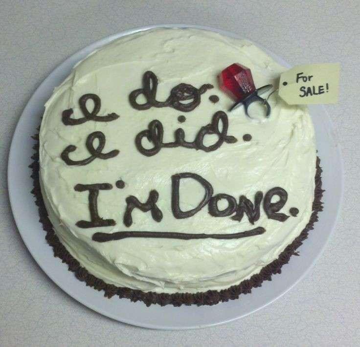 La torta con la scritta