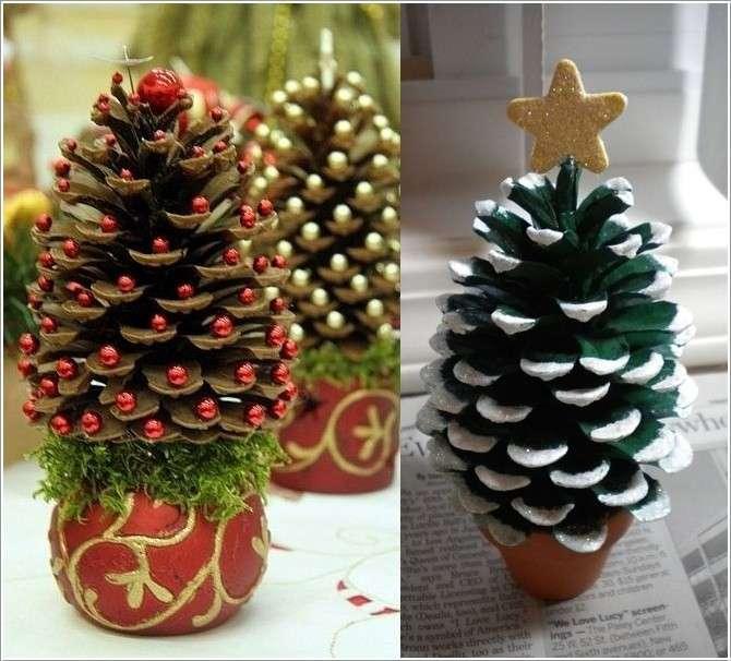 Decorazioni Natalizie Con Le Pigne.Lavoretti Per Natale Con Le Pigne
