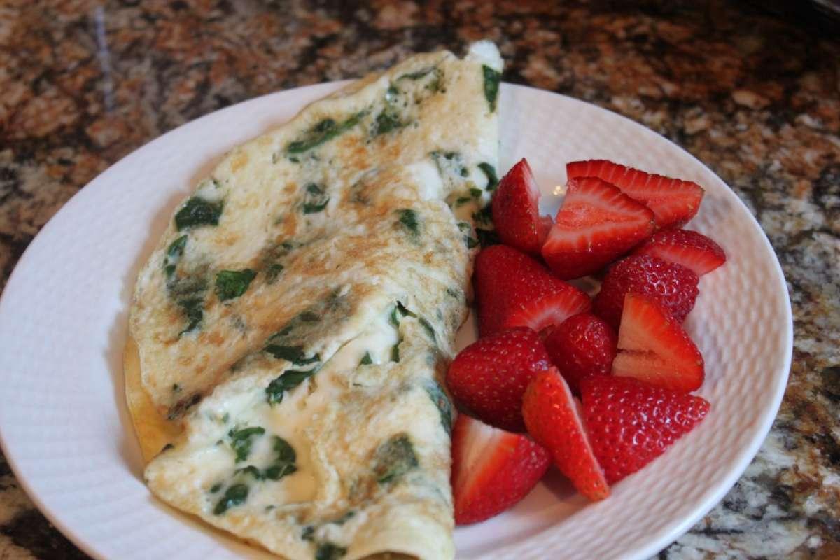 Omelette con fragole