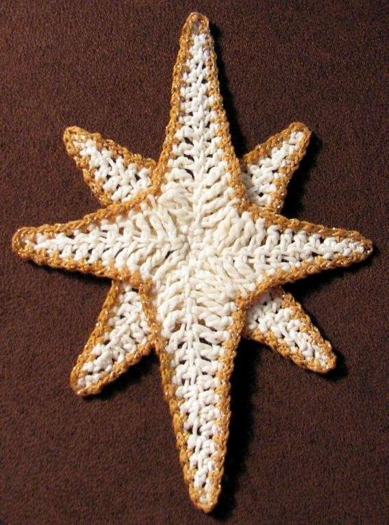 Stella asimmetrica con i bordi colorati